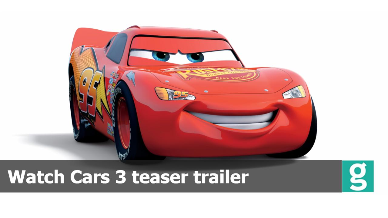 Watch Animated Movie Cars 3 Trailer