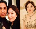 Actress Sharmila Farooqi With Her Husband