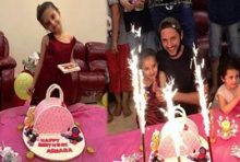 Shahid Afridi Celebrating Daughter Birthday