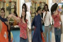 Saima Azhar's Dance With Her Maid in Sanam Jung show