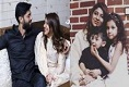 Fahad Mustafa With Daughter Fatima and Wife Sana Son Moosa