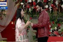Agha Ali Purpose Sarah Khan in a Live Show