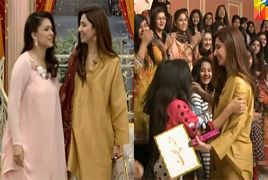 Mahira Khan Beautiful Entry in Sanam Jung Morning Show
