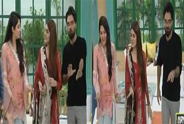 Sanam Baloch, Kubra Khan and Yasir Hussain Dance in Live Sho