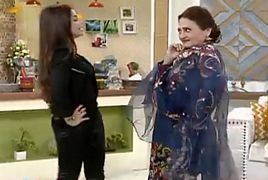 Asma Abbas and Benita Dance in Morning Show