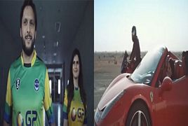 Shahid Afridi and Zareen Khan New Ad