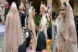 Entry of Anushka Sharma on Her Wedding