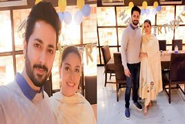 Ayeza Khan Celebrating her 27th Birthday with Danish taimoor