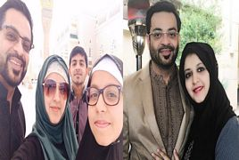 Dr Amir Liaquat With His Wife And Kids