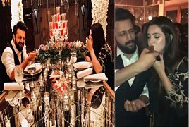 Atif Aslam Celebrating 35th Birthday with his wife Sara Bhar