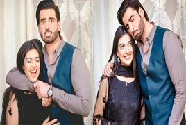 Actor Agha Ali and Sara Khan in Sweet Style