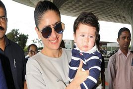 Kareena Kapoor's Son Taimur Ali Khan New Pictures