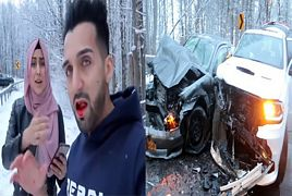 Sham Idrees and Froggy Car Crash Footage