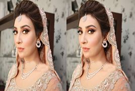 First Look Of Ayesha Khan At Her Baraat Ceremony