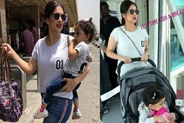 Sanam Jung Spotted at Airport With Her Daughter