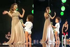 First Look of Ayeza Khan's Dance with Cute Little Babies