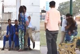 Kiss and Run Prank in Karachi Pakistan