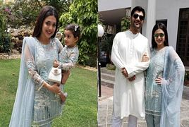 Sanam Jung With Her Family On First Day Eid Ul Fitr