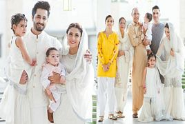 Ayeza Khan With Her Complete Family On Eid Ul Fitr