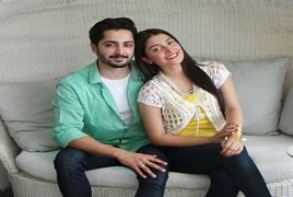 ayeza khan along with her husband and momal sheikh in cinema