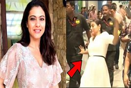 Bollywood Actress Kajol Slips and Fall Down at a Mall