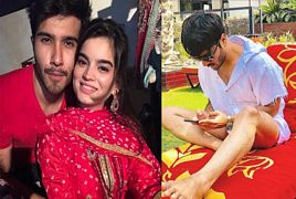 Feroze Khan With His Beautiful Wife Alizey Feroze Khan