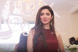 Mahira Khan at an Event in Colorful Dress