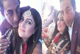 Adnan Shah Tipu with his Wife at Wedding Ceremony