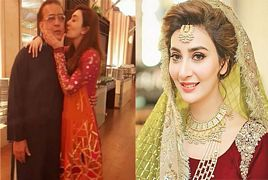 Ayesha Khan's Pictures with her Father After Marriage