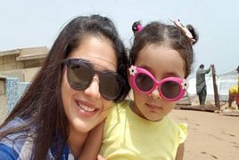 Sanam Jung At Beach With Her Baby Daughter Alaya Jafri