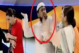 Mufti Arrested For Slapping Woman In Live Show
