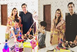 Iqrar Ul Hassan With Wife Celebrating Pehlaj''s Birthday