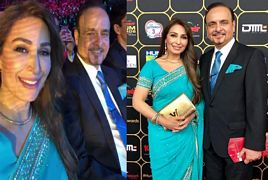 Reema Khan with her husband At the Hum Awards 2018