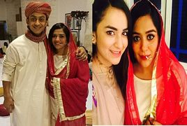 Yasira Rizvi With Her Sister in Law Who Is An Actress