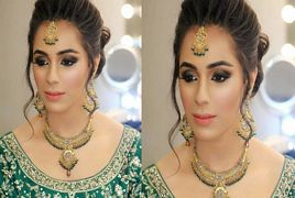 First look of Faizan Shaikh Wife Maham Aamir on Walima Cerem