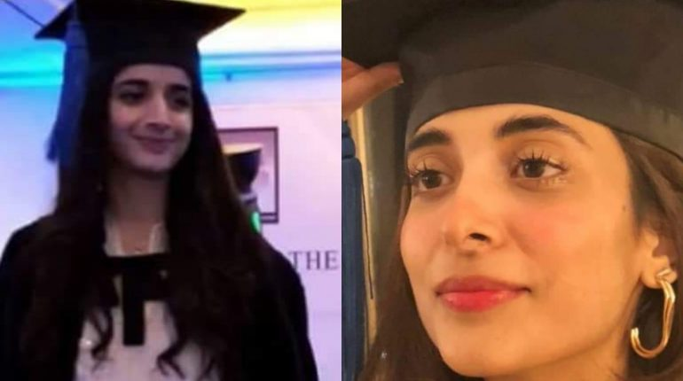 Urwa Hocane at Mawra's convocation
