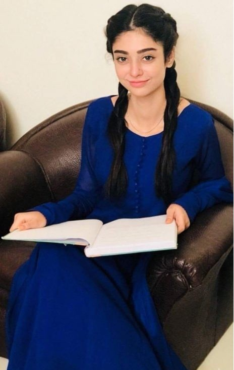 Noor Khan clicked at the shoot location in beautiful blue dr