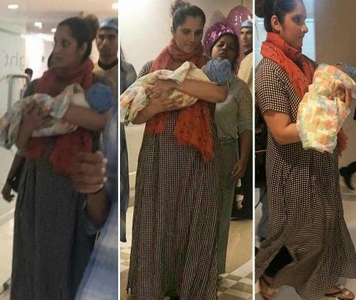Sania Mirza With Baby Leaving Hospital