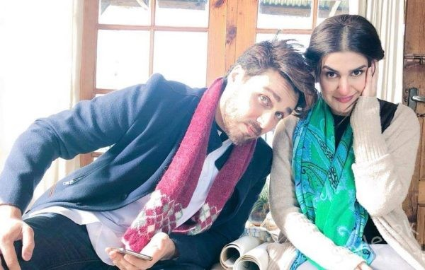 Clicks of Ahsan Khan and Kubra Khan BTS of upcoming drama Al