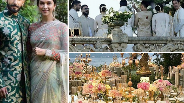 First Pictures of Ranveer and Deepika Wedding Is Out