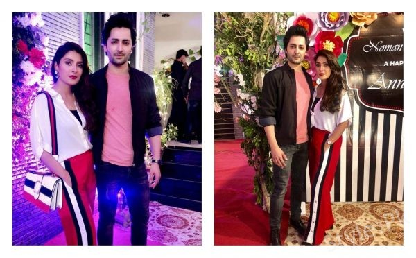 Ayeza Khan and Danish Taimoor at the wedding anniversary