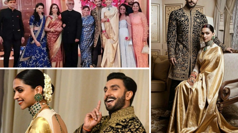 Ranveer and Deepika Beautiful Reception Pictures