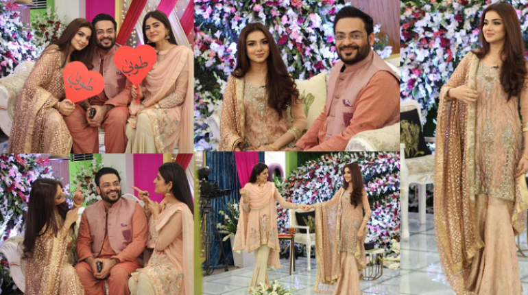 Amir Liaquat With His Wife Tooba in Morning show