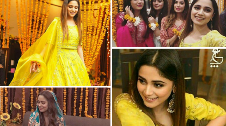 Beautiful Clicks of Aima Baig At Her Sister's Mayoun